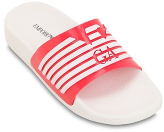 Emporio Armani Logo Printed Rubber Slide Sandals