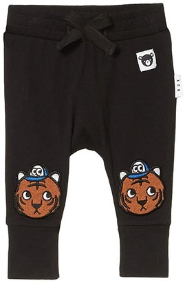 HUXBABY Tiger Knee Drop Crotch Pants (Infant/Toddler) (Black) Kid's Casual Pants