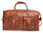 Rawlings Sports Accessories Men's 'Rugged' Leather Duffel Bag - Brown