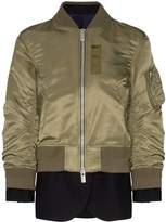 Sacai layered bomber jacket