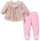 Little Me Infant Girls' Leopard Velour Top & Pants Set - Sizes 3-9 Months