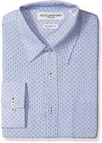 Nick Graham Everywhere Men's Fineline with Micro Print Polyester Dress Shirt