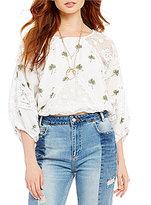 Free People Carolina Mindset Embroidered Lace Top