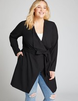 Lane Bryant Belted Tailored Stretch Flyaway Jacket