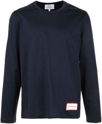 CK Calvin Klein Logo Print Long-Sleeve Top