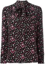 Saint Laurent star print lavaliere blouse