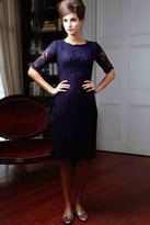 Shabby Apple With This Ring Sheath Dress Navy