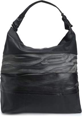 Rick Owens Paneled Coated Textured-leather Tote