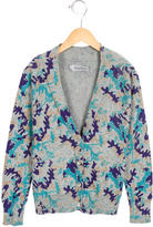 Zadig & Voltaire Girls' Camouflage Print Long Sleeve Cardigan