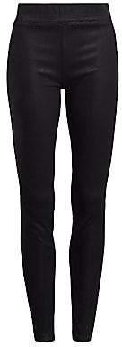 L'Agence Women's Rochelle High Rise Coated Skinny Leggings