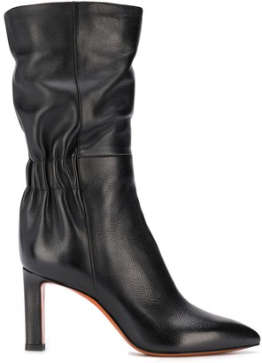 Santoni scrunched boots