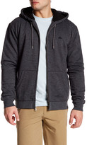 Quiksilver Front Zip Faux Shearling Hooded Jacket