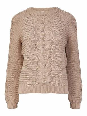 Pieces Women's PCREBECCA LS O-Neck Knit BC BF Sweater