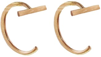 Melissa Joy Manning Gold Bar Hug Hoop Earrings