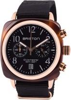 Briston Classic Chronograph Date - Black Dial & Black Strap