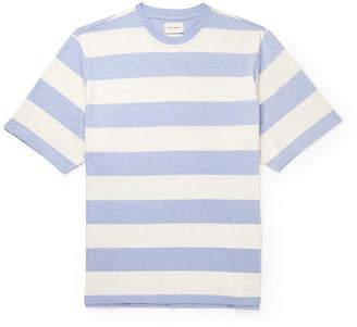 Oliver Spencer Paz Striped Melange Cotton-Jersey T-Shirt