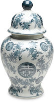 AA Importing 14 Bazille Ginger Jar, Blue/White