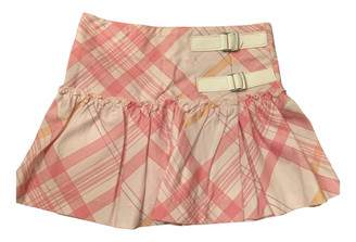 Burberry Pink Cotton Skirts