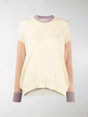 Marni Colour-Block Long-Sleeve Jumper