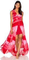 Haute Hippie Tie Dye Paneled Gown