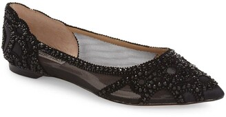 Badgley Mischka Gigi Crystal Pointed Toe Flat