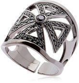 Faith Crystal & Brass Ring
