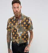 Reclaimed Vintage Inspired Shirt In Baroque Print Reg Fit