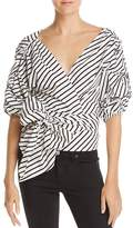 MLM Label Salo Striped Wrap Shirt