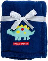 Cutie Pie Baby Navy Dinosaur Velboa Stroller Blanket