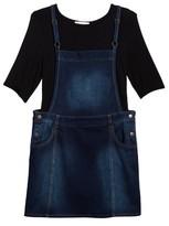 Love, Fire Girl's Bell Sleeve Tee & Overall Dress Set