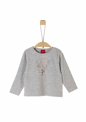 S'Oliver Baby Girls' 59.911.31.8787 Long Sleeve Top