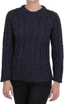 J.G. Glover & CO. Peregrine Aran Cable-Knit Sweater - Merino Wool, Crew Neck (For Women)