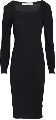 Philosophy di Lorenzo Serafini Puff Sleeve Midi Sweater Dress