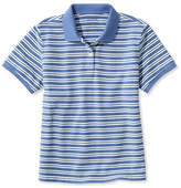 L.L. Bean Premium Double L Polo, Relaxed Fit Short-Sleeve Stripe