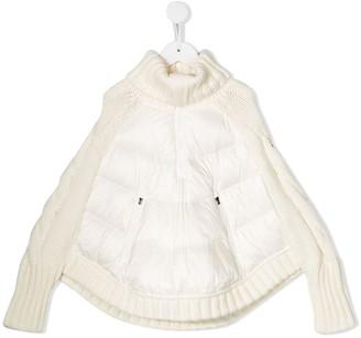 Moncler Enfant Contrast Panel Padded Coat