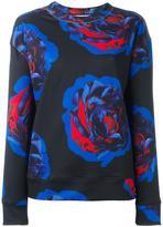 DKNY rose print sweatshirt - women - Polyester/Spandex/Elastane - S