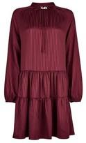 Dorothy Perkins Womens Vila Burgundy Long Sleeve Short Dress