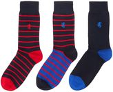 Pringle 3 Pack Easy Stripe And Plain Socks