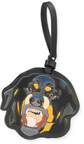 Givenchy Men's Leather Rottweiler Charm for Bag or Briefcase, Black