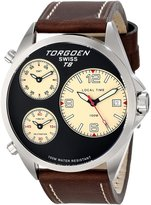 Torgoen Swiss Men's T08103 T8 3 Time Zone Aviation Watch
