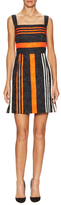 Dolce & Gabbana Striped Jacquard Fit And Flare Dress