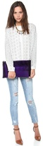 Hudson Reece Bowery Zip Top Oversized Clutch