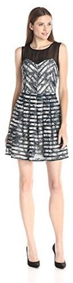 Greylin Women's Pamela Fern Print Dress