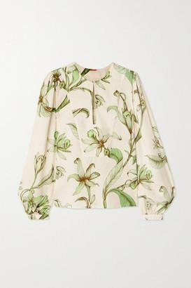 Johanna Ortiz Andean Garden Floral-print Tencel-twill Blouse - Green
