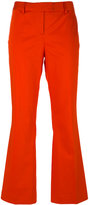 Moschino flared cropped trousers - women - Cotton/Other fibres - 42