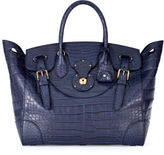 Ralph Lauren Matte Alligator Soft Ricky Bag