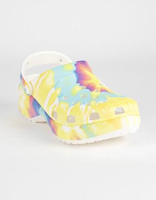 Crocs Classic Platform Tie Dye Graphic Womens Clogs