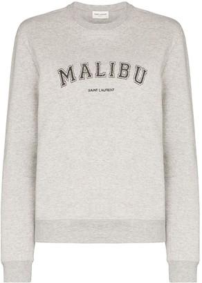 Saint Laurent Malibu-print cotton-blend sweatshirt