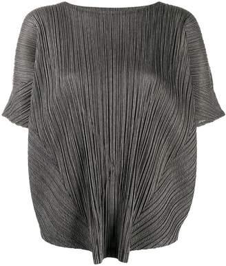 Pleats Please Issey Miyake micro-pleated tunic top