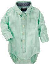 Osh Kosh Striped Button-front Bodysuit